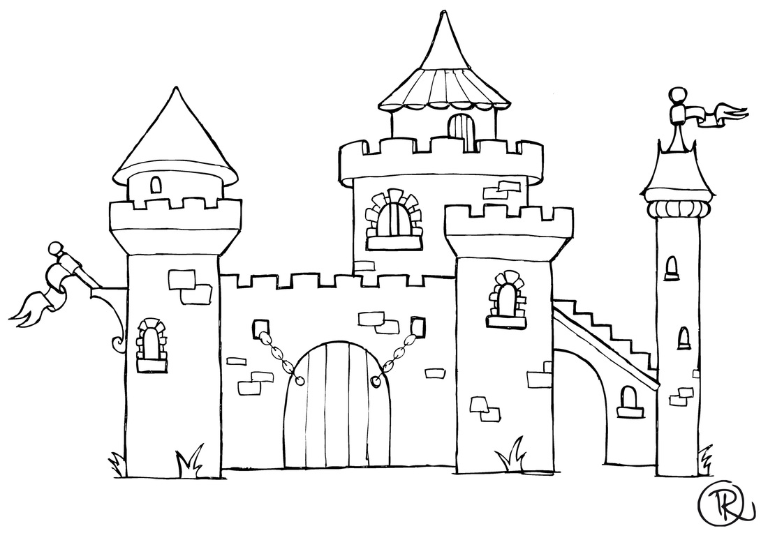 20 dessins de coloriage chateau fort imprimer imprimer - Dessin chateau princesse ...