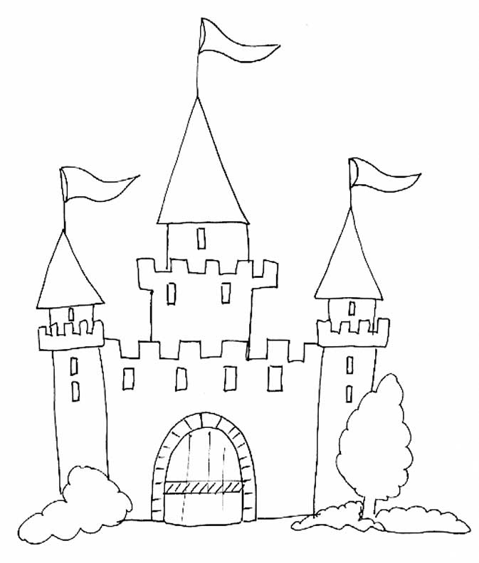 20 dessins de coloriage chateau fort imprimer imprimer for Image chateau princesse