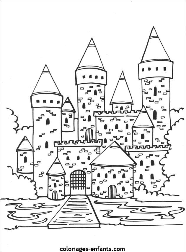 20 dessins de coloriage chateau fort imprimer imprimer - Coloriage de chateau fort ...