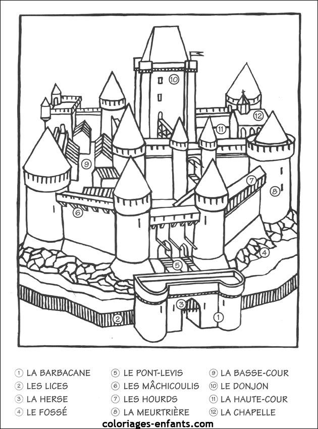 Coloriage D Un Chateau Fort