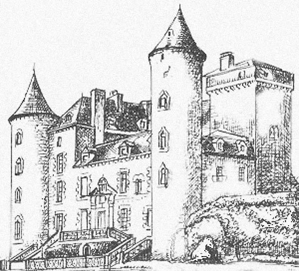 coloriage à dessiner chateau fort