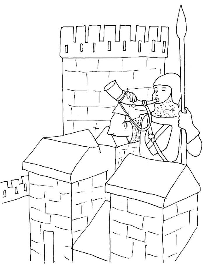 coloriage chateau fort en ligne