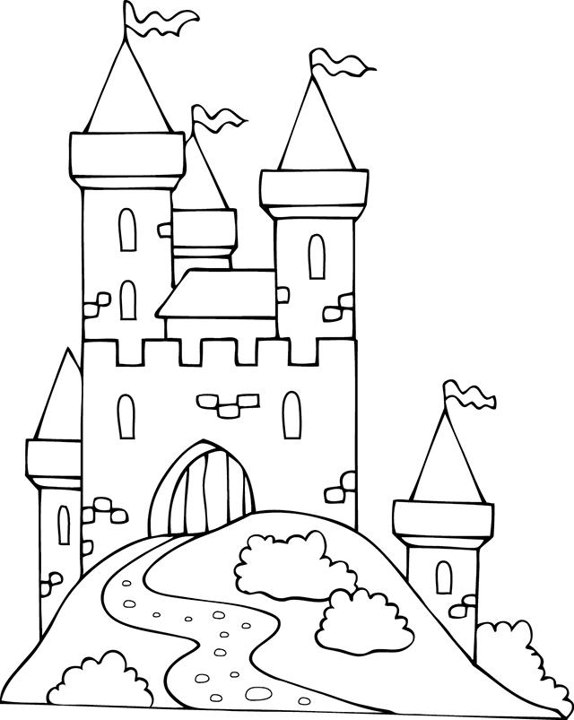 19 dessins de coloriage chateau fort imprimer for Fort coloring pages