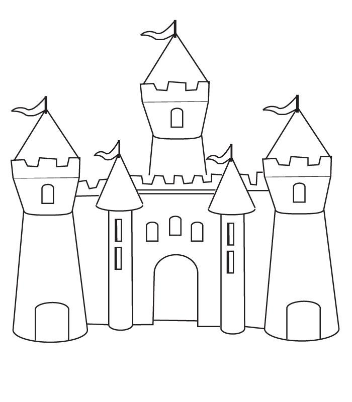 28 Dessins De Coloriage Chateau Fort à Imprimer