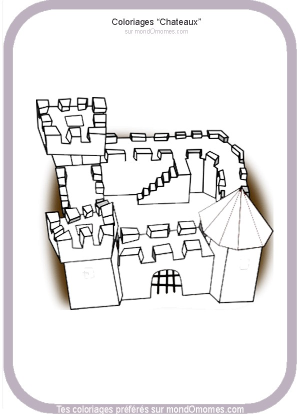 coloriage � dessiner chateau fort playmobil