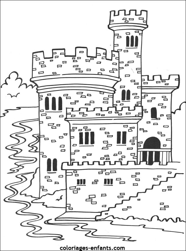 Dessin Simple Chateau Fort
