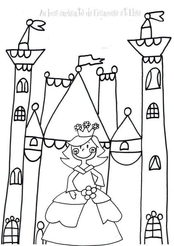 19 dessins de coloriage chateau princesse imprimer - Dessin chateau princesse ...