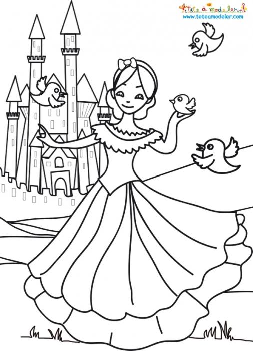 19 Dessins De Coloriage Chateau Princesse A Imprimer
