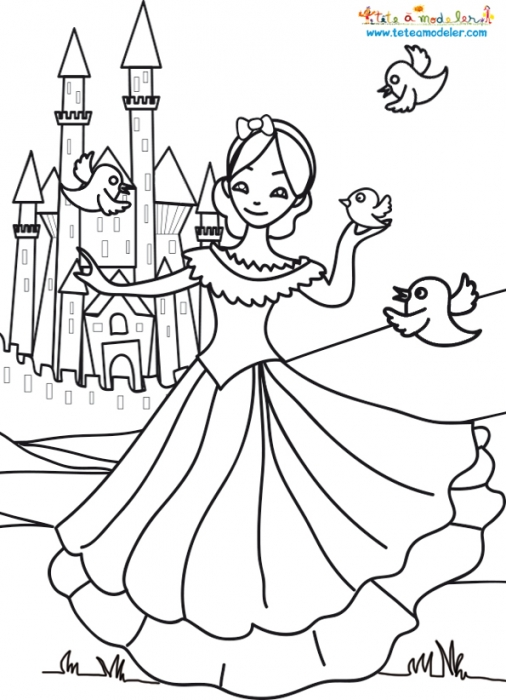 Coloriage204 coloriage chateau princesse - Chateau coloriage ...