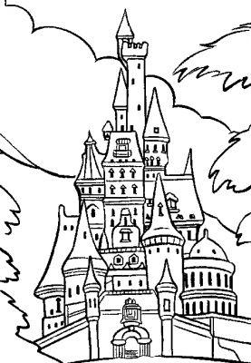 19 dessins de coloriage chateau princesse imprimer - Chateaux dessin ...