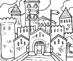 Coloriage Chateau Princesse A Imprimer.Chateau Coloriage A Imprimer Laborde Yves