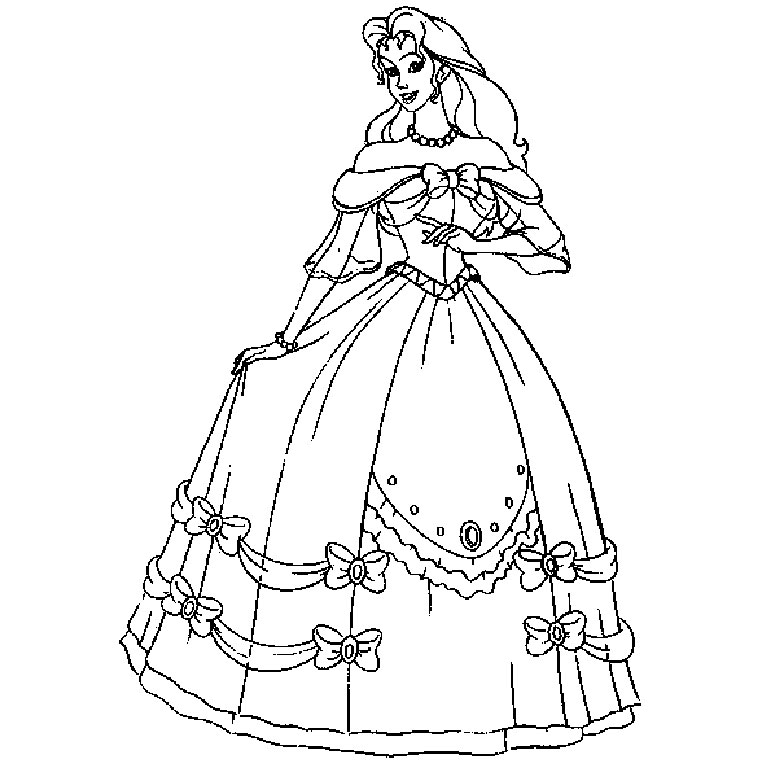 Dessin de robe de princesse a imprimer - Dessin chateau princesse ...