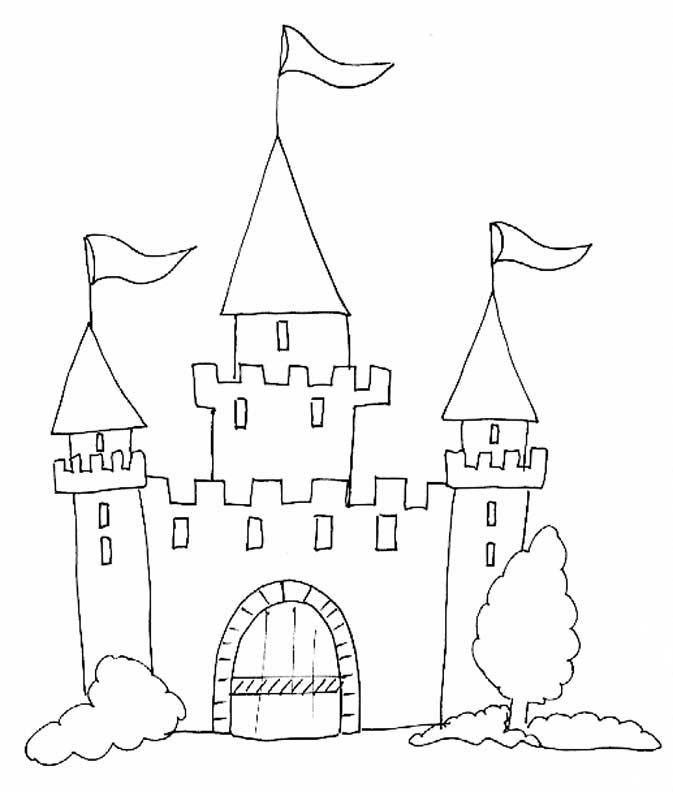 19 dessins de coloriage chateau princesse imprimer - Dessiner un chateau de princesse ...
