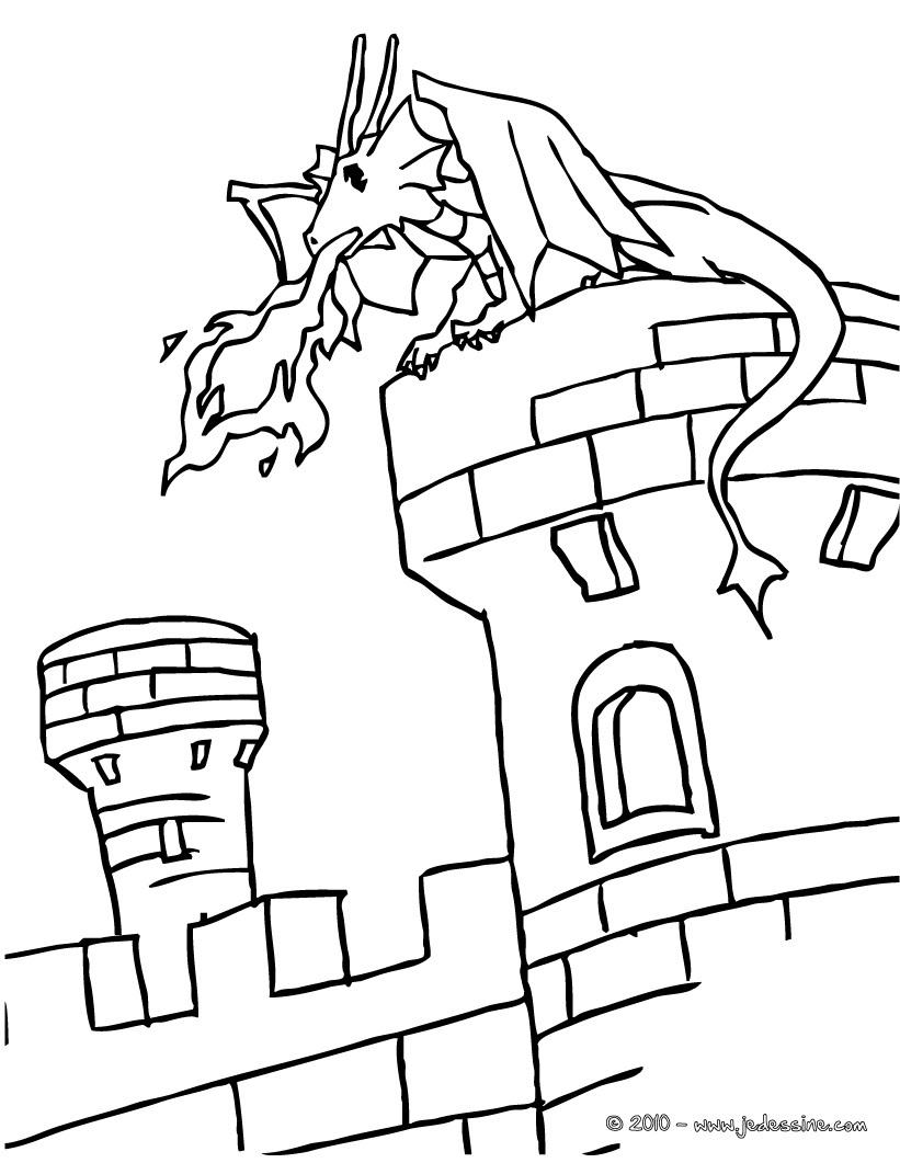 20 dessins de coloriage chateau imprimer - Coloriage de chateau ...
