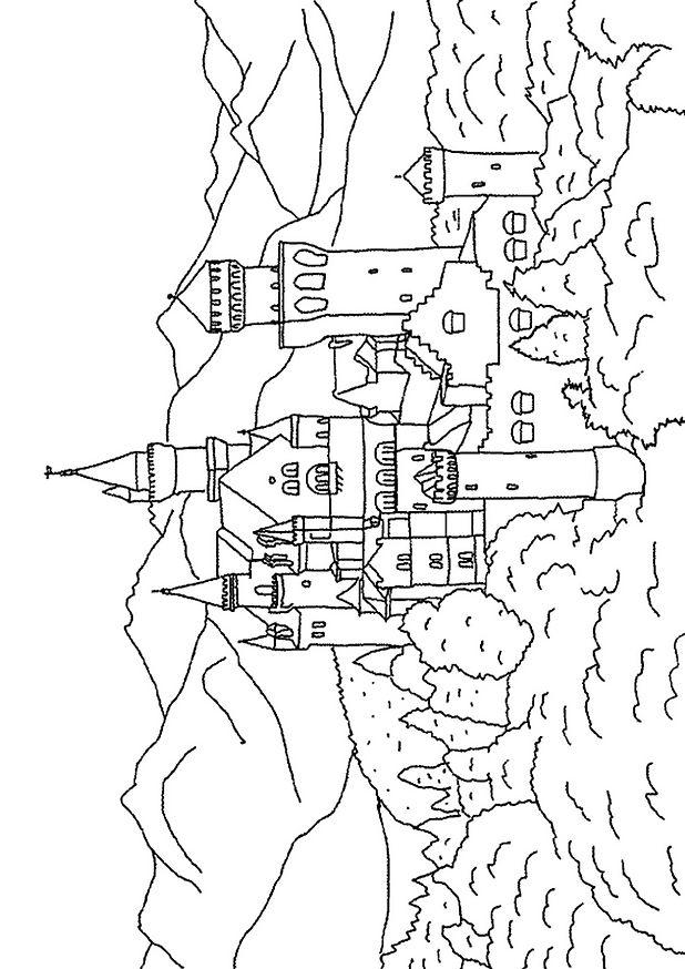 dessin chateau chevalier imprimer