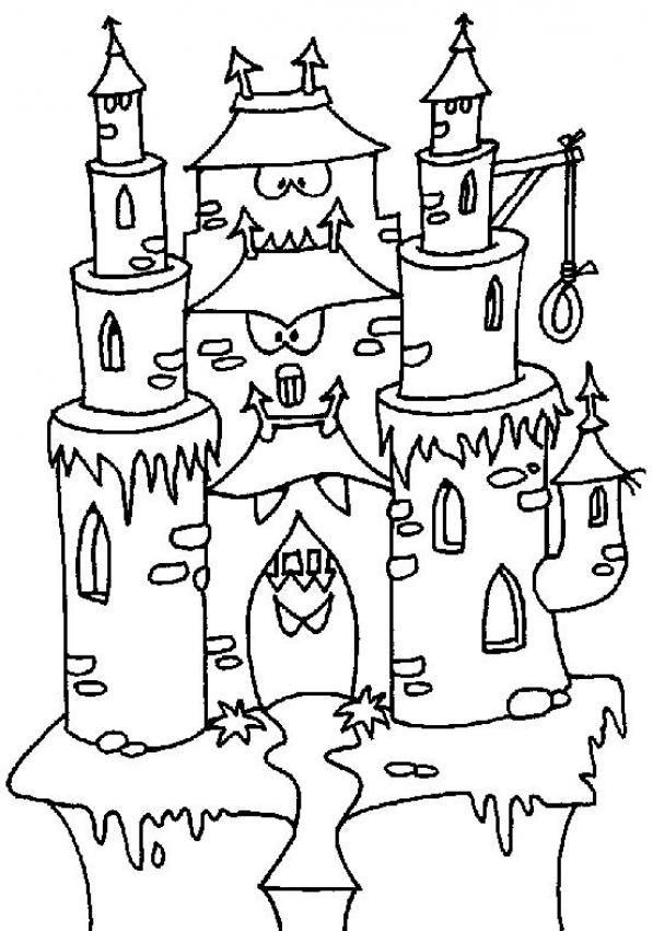 dessin à colorier chateau la reine des neiges