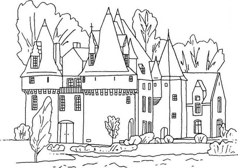 dessin chateau disneyland paris