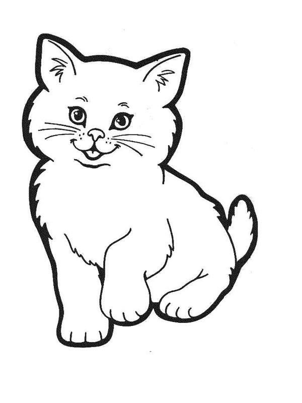 coloriage chaton trop mignon a imprimer