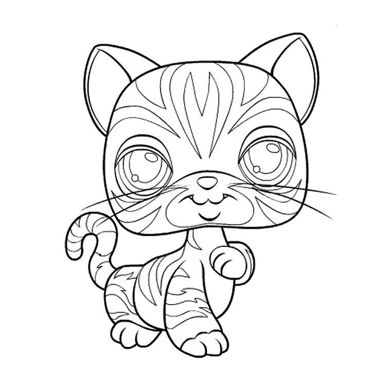 coloriage à dessiner de chaton et de chat