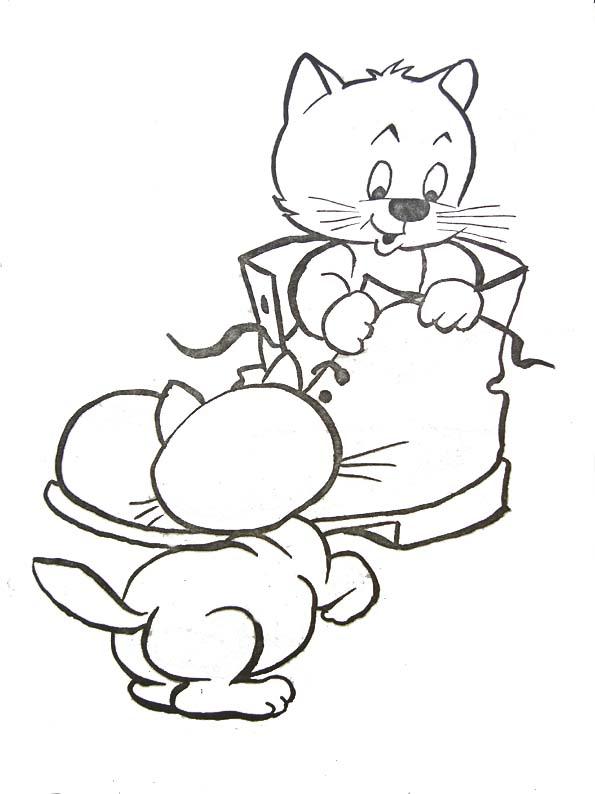dessin à colorier chaton gratuit