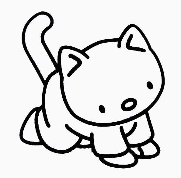 coloriage à dessiner de chaton et de chiot