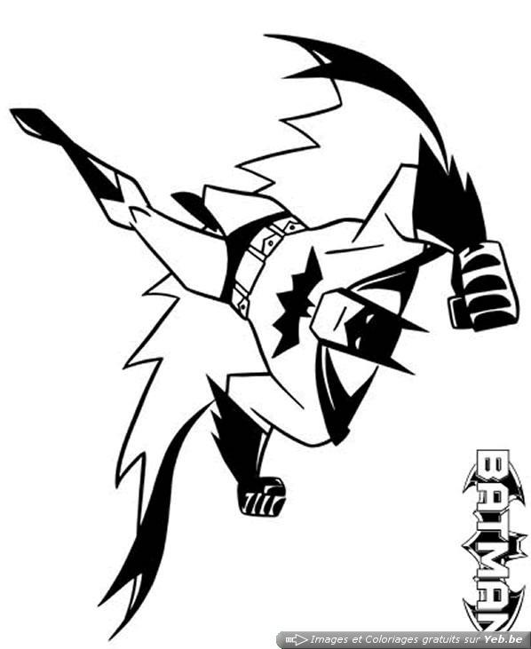 12 dessins de coloriage chauve souris batman imprimer - Coloriage batman ...