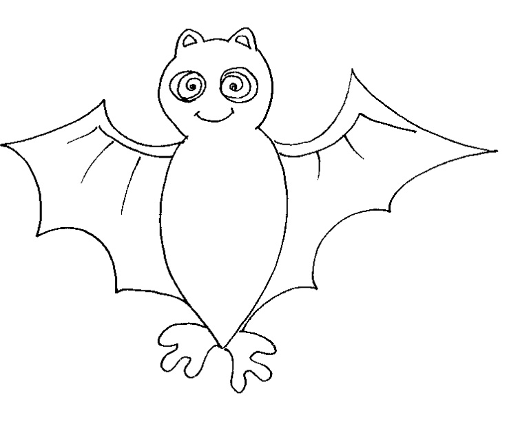 4 dessins de coloriage chauve souris halloween imprimer - Dessin de chauve souris d halloween ...