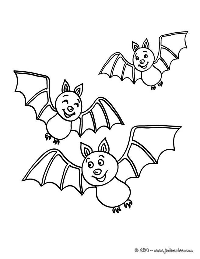 4 dessins de coloriage chauve souris halloween imprimer - Dessin halloween chauve souris ...