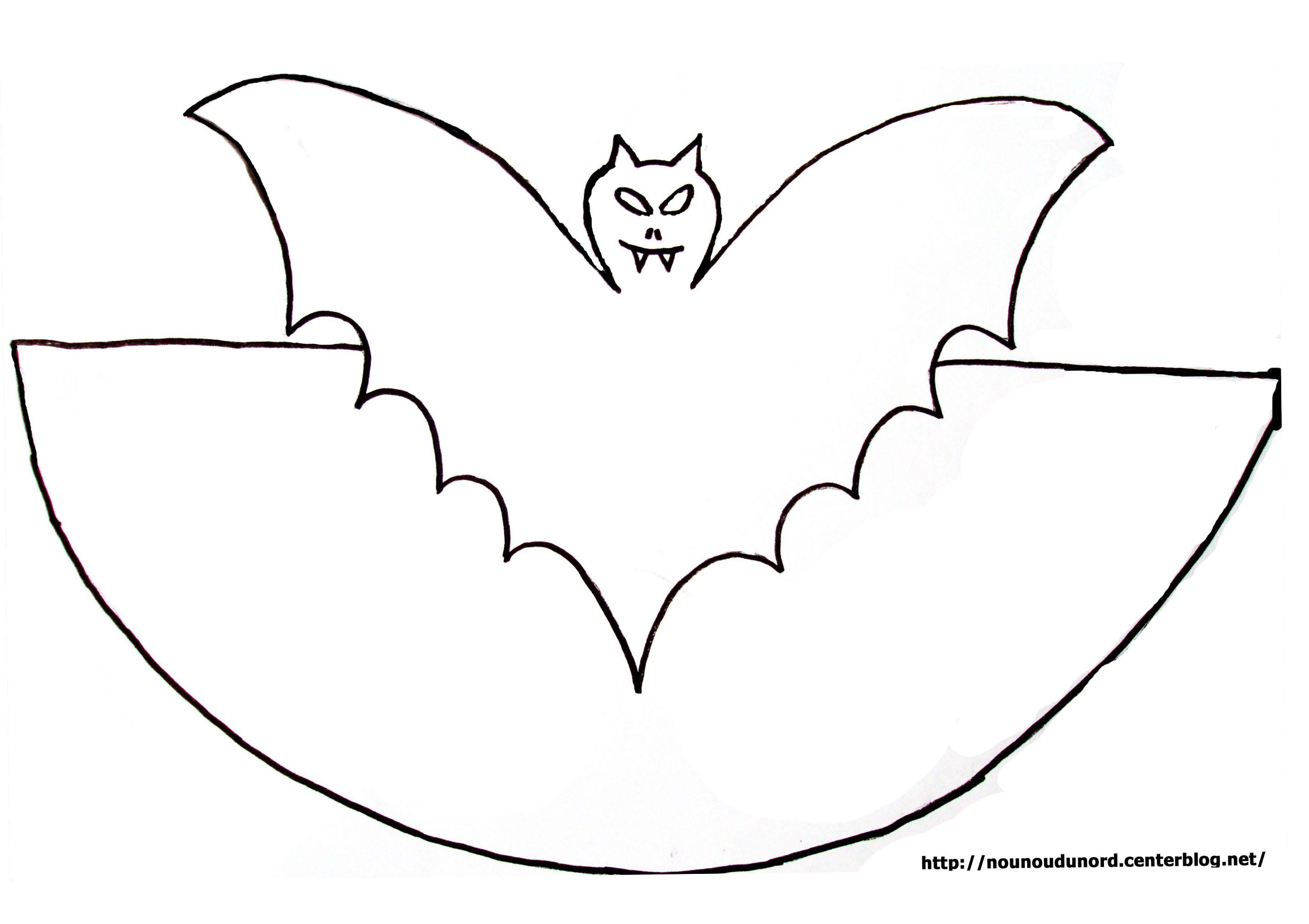 dessin chauve souris à imprimer