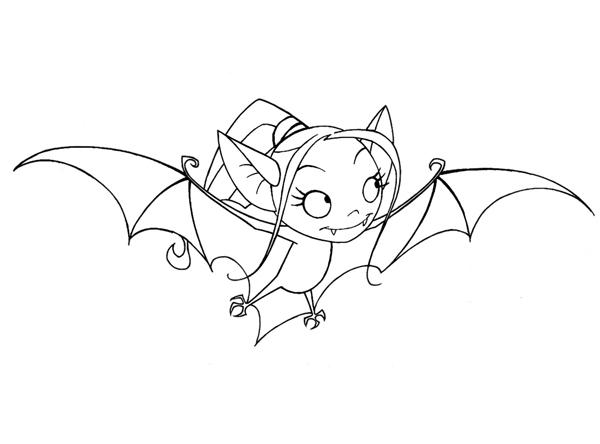 coloriage à dessiner à imprimer chauve souris