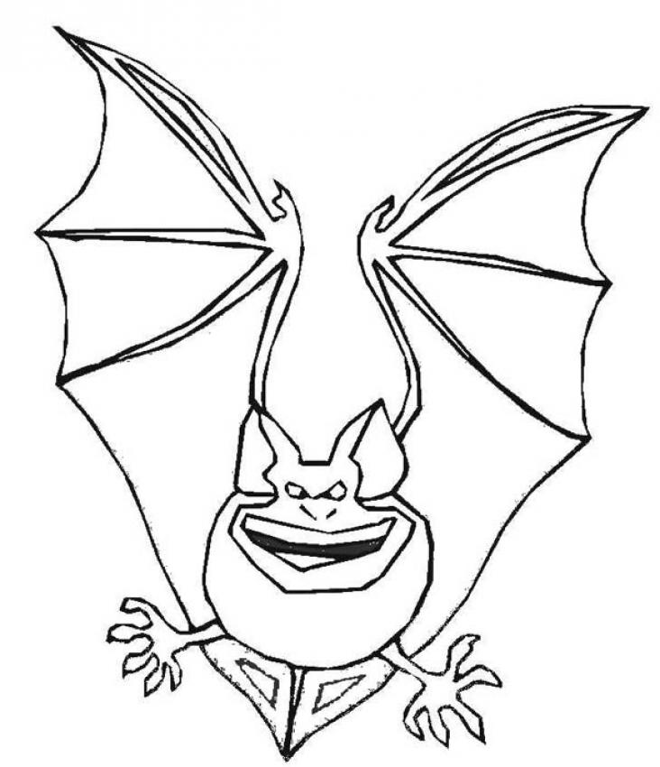 dessin coloriage à dessiner chauve souris