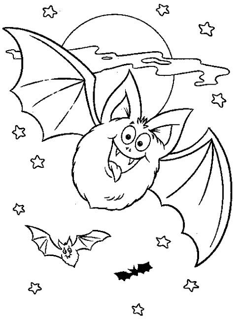 dessin gratuit à imprimer chauve souris