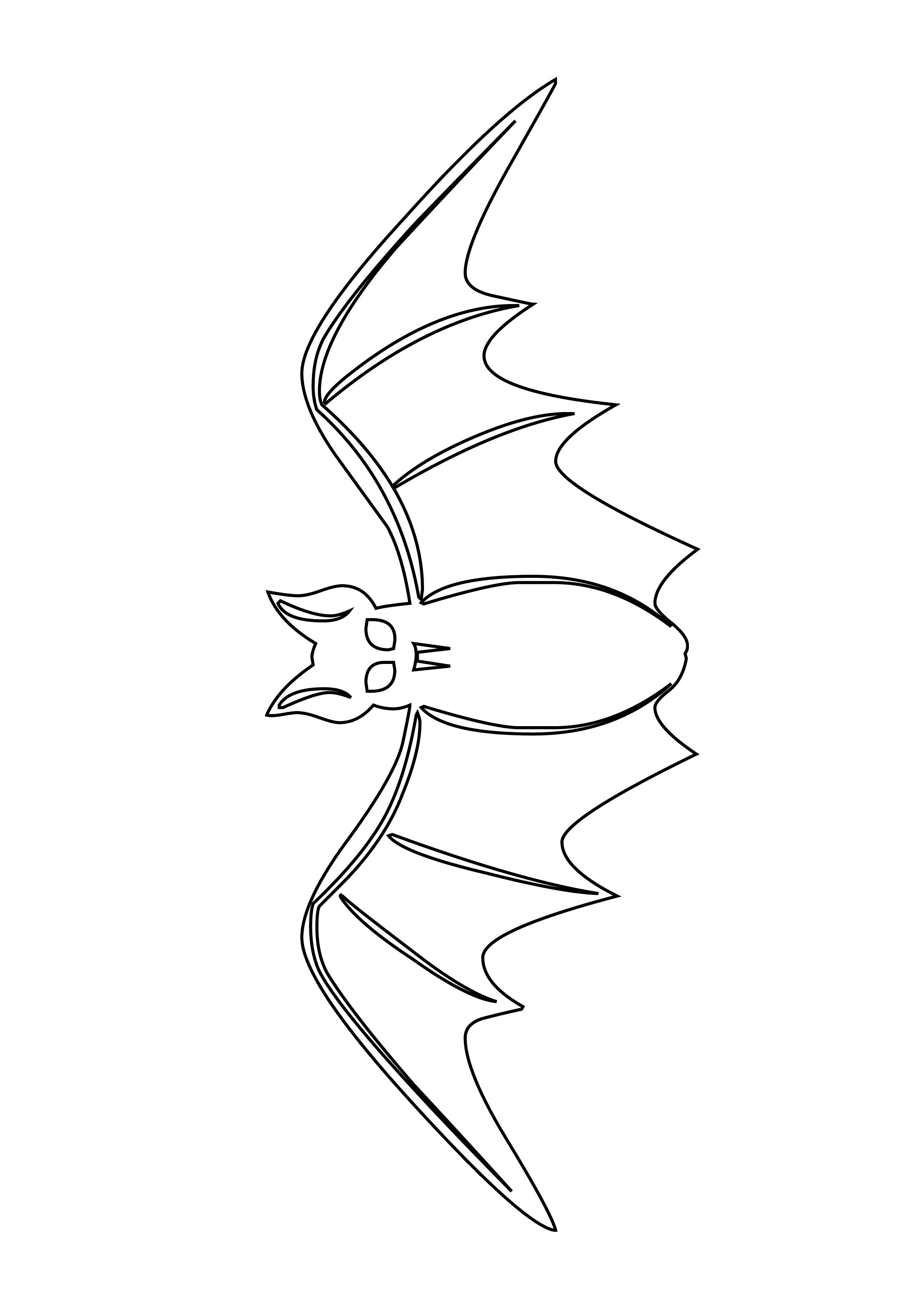 dessin à colorier chauve souris batman