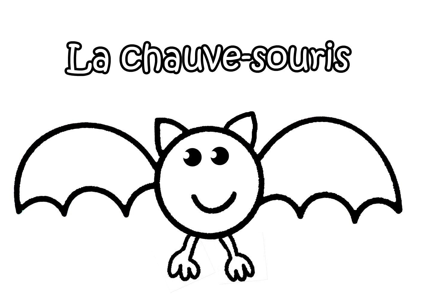 dessin de chauve souris pour halloween