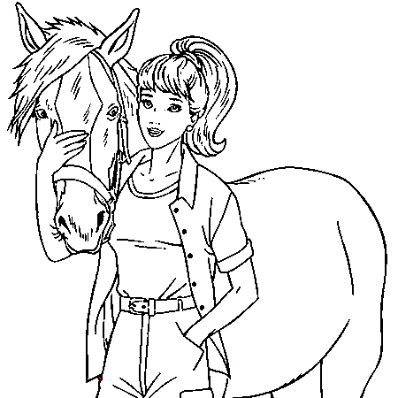 20 dessins de coloriage cheval en ligne imprimer - Dessin cheval a imprimer ...