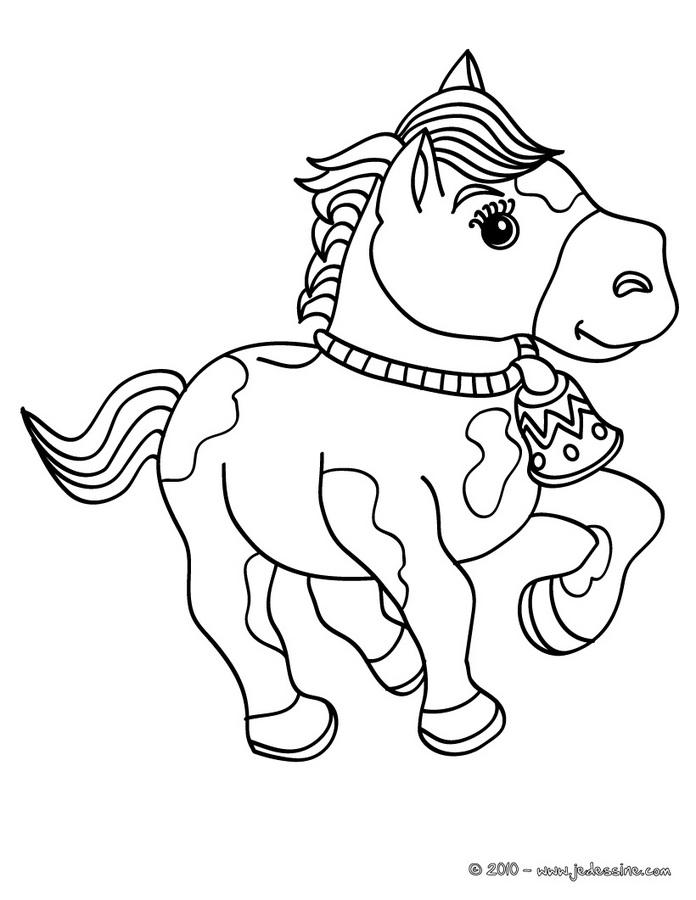 20 dessins de coloriage cheval en ligne imprimer - Coloriage cheval sauvage ...