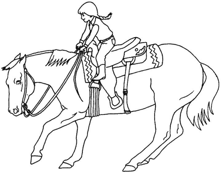 20 dessins de coloriage cheval gratuit imprimer - Coloriage cheval sauvage ...