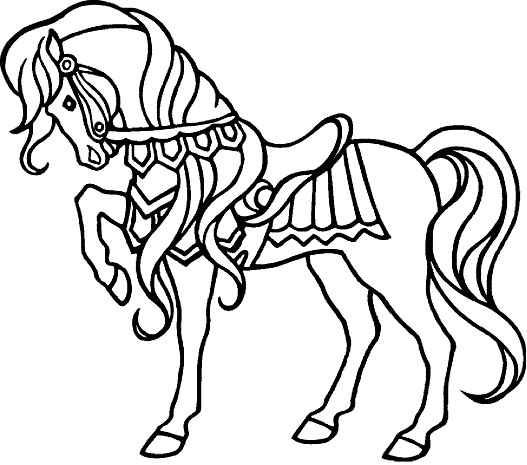 Cheval Coloriage Gratuit On Coloriage Colorier Softsmsbi Dindigulbiz