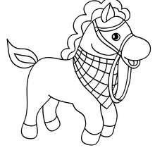 coloriage winx cheval