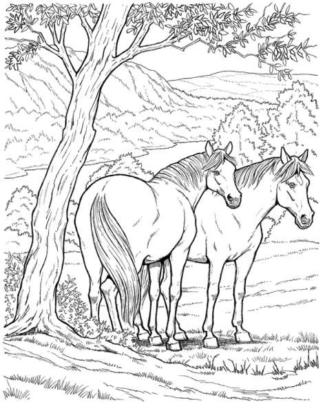 coloriage cheval imaginaire