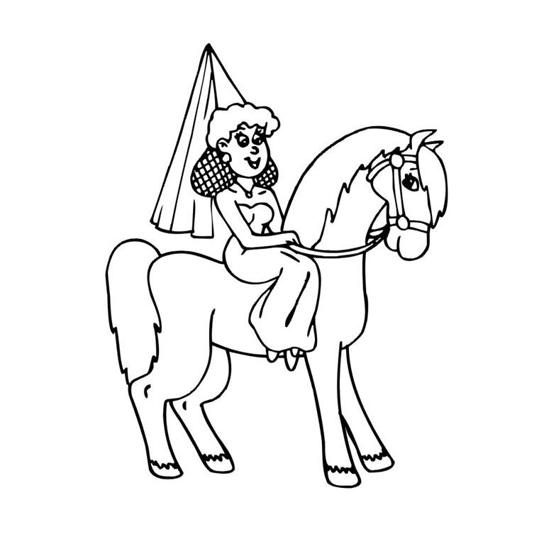 coloriage a imprimer cheval qui saute