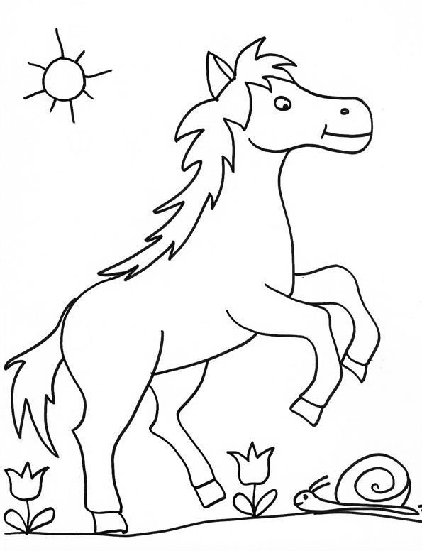 coloriage cheval boulonnais
