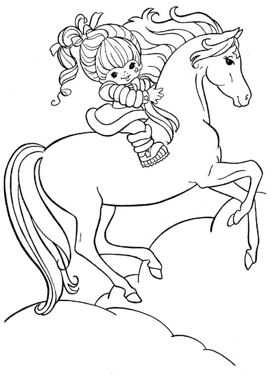 coloriage cheval hugo l'escargot