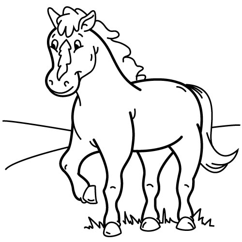 coloriage cheval cavaliere