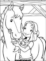 dessin à colorier cheval gratuit