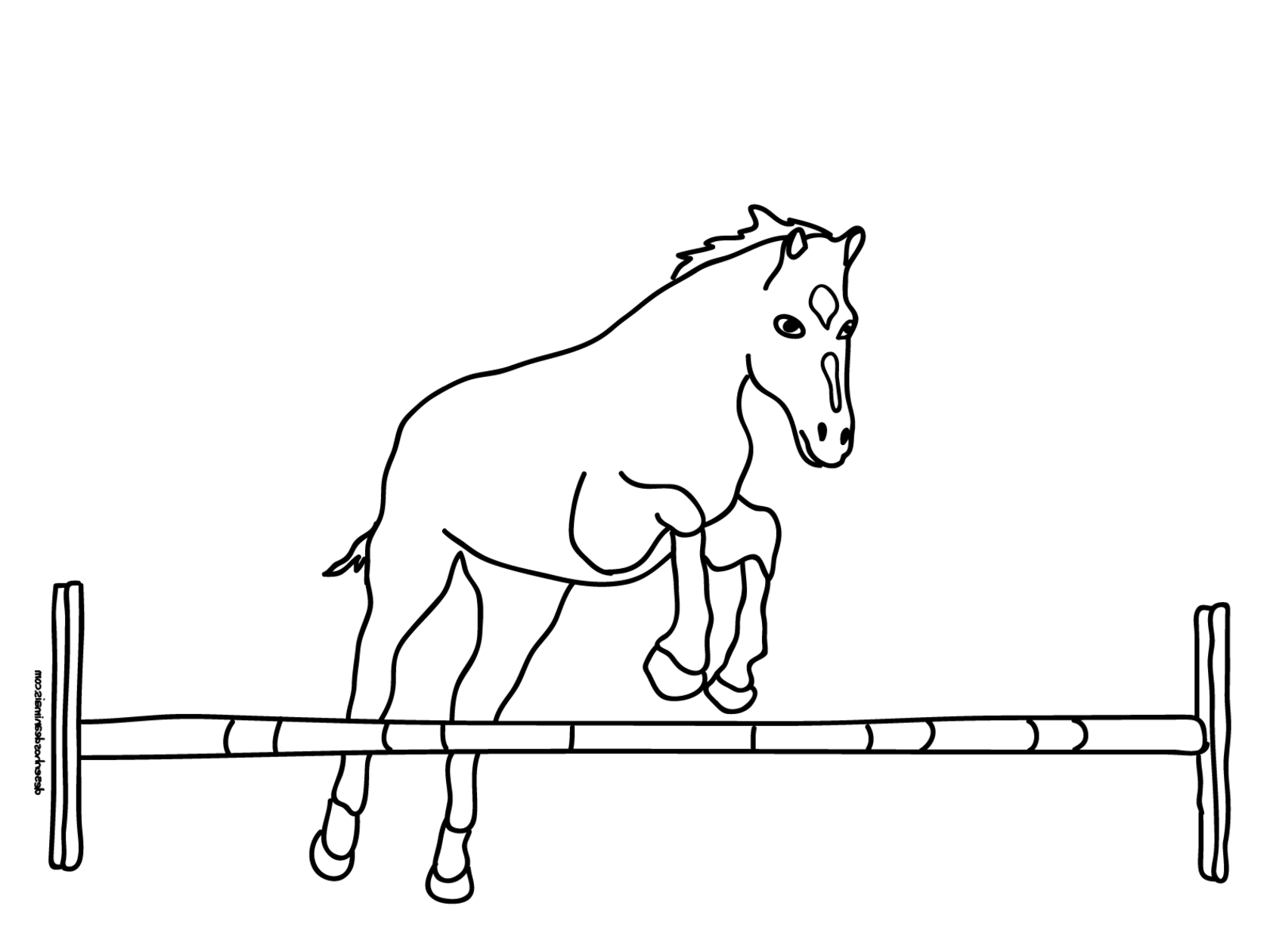 coloriage ordinateur cheval