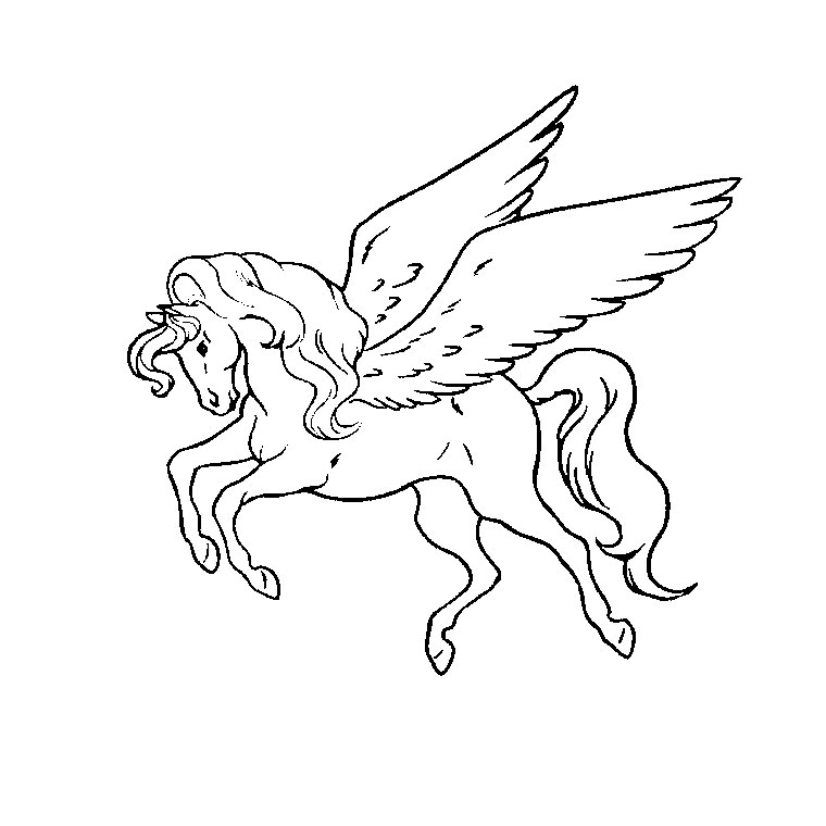 coloriage cheval grand galop imprimer