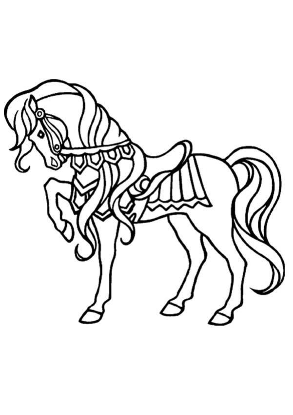 Coloriage cheval qui se cabre - Coloriage poulain ...