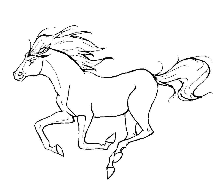 coloriage à imprimer cheval
