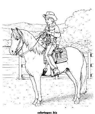 coloriage cheval cabr� a imprimer